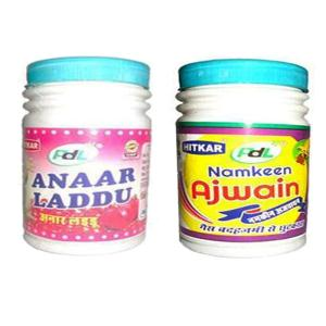 Online Shopping India, Ayurvedic Churan Goli, Combo of Anaar Laddu 100gm + Namkeen Ajwain 100gm, PDL Hitkar,