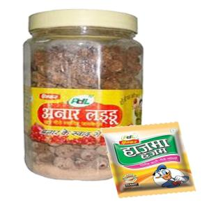 Online Shopping India, Ayurvedic Churan Goli, Combo of Anar Laddu 700gm + Free 5 Pouch Hajma Hajam(1 Pouch 3 Gm), PDL Hitkar,